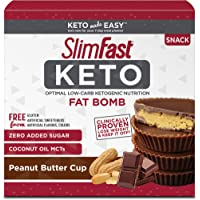 14-Count SlimFast Keto Fat Bomb Snacks Peanut Butter Cups