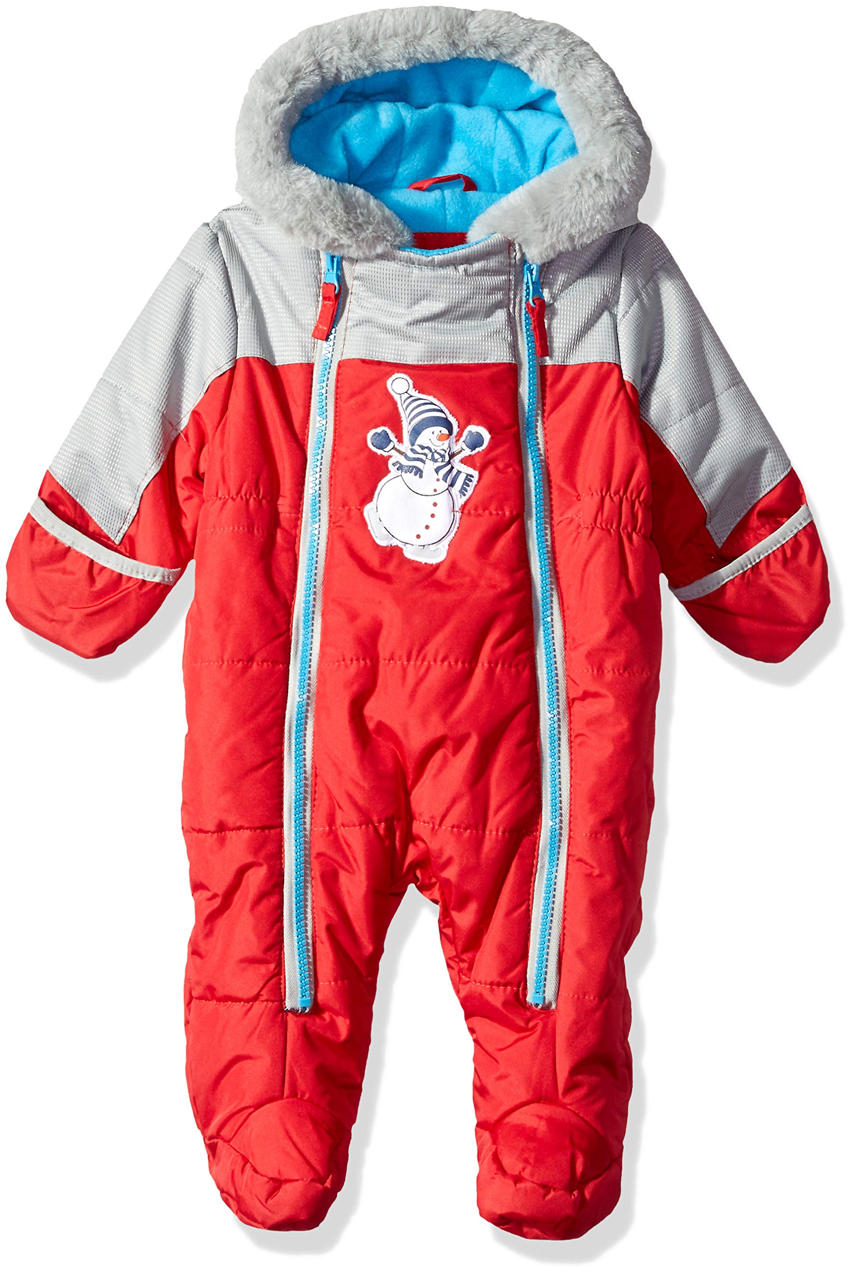 Wippette Baby Boys Snowsuit Pram, Snowman red, 6/9M by Wippette