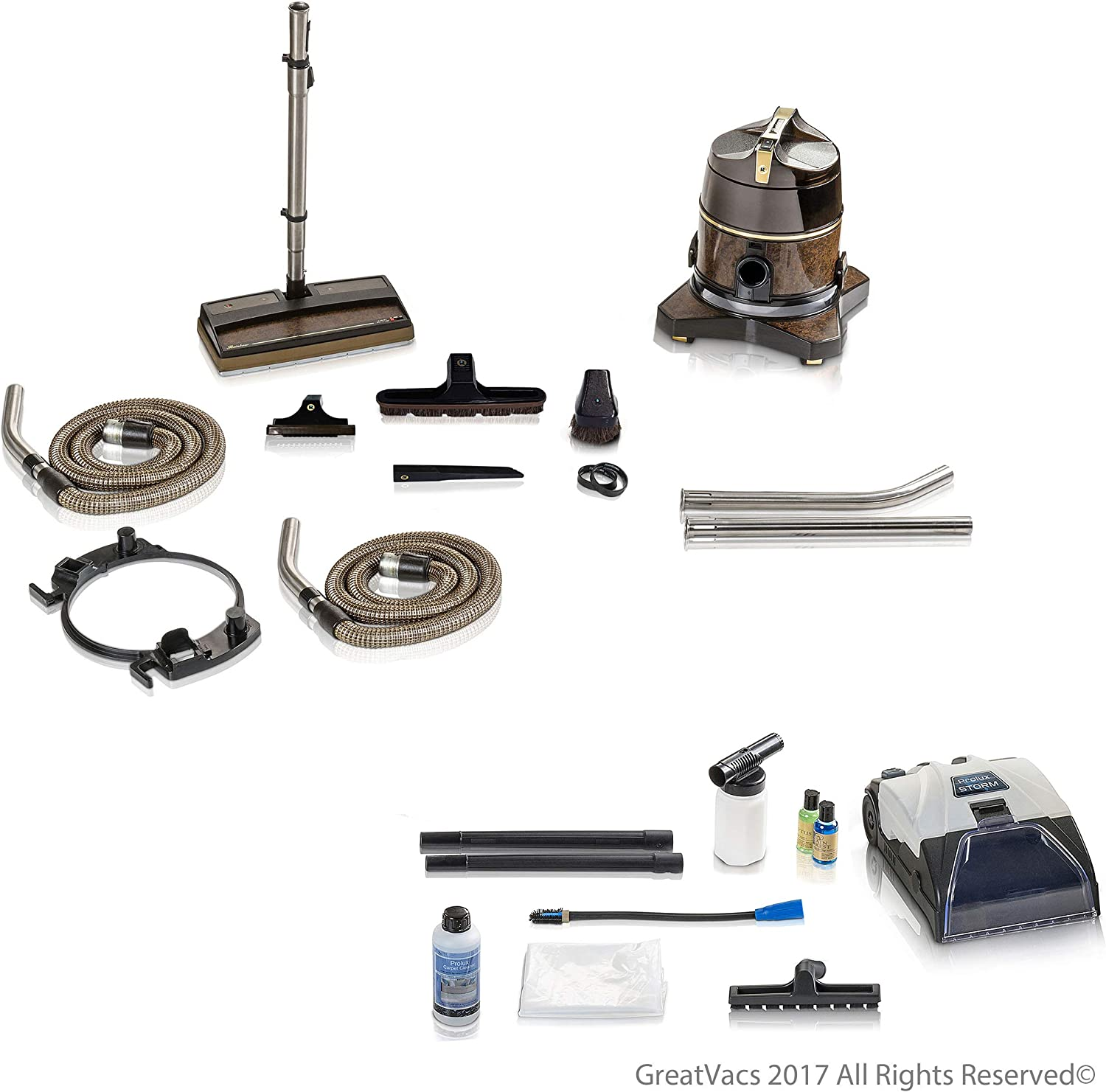 Reconditioned Genuine Rainbow D4 Vacuum Cleaner and Prolux Storm Shampooer 10pc Bundle 5YR Warranty (Renewed)