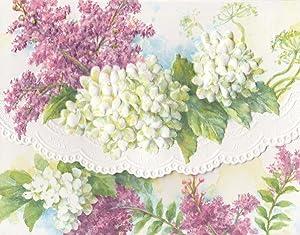 Carol Wilson White Hydrangeas 10 ct Embossed Note Card Set For Arts Sake