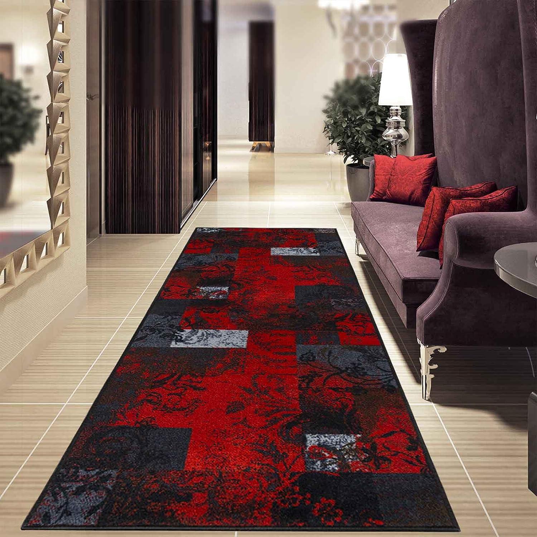 Casa pura Teppichläufer mit modernem Design in in in brillianten Farben   hochwertige Meterware, gekettelt   Kurzflor Teppich Läufer   Küchenläufer, Flurläufer (80x300 cm) B01N2K76IU Lufer 671687