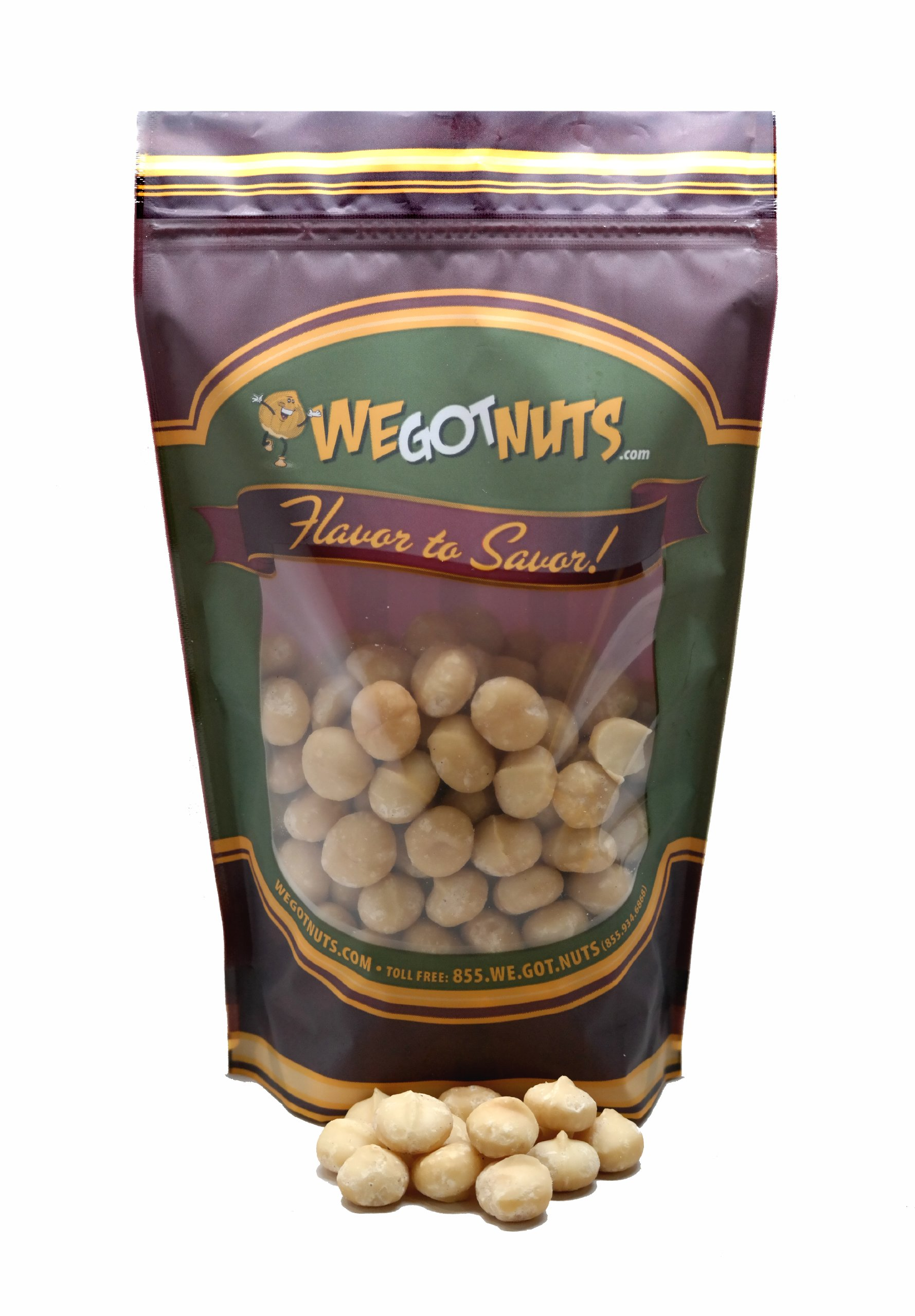 Macadamia Nuts, Raw, Whole ,Shelled - We Got Nuts (2 LBS.)