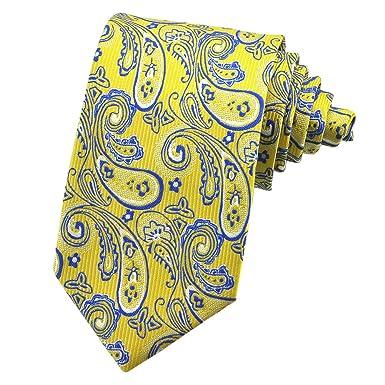PenSee Corbata de seda para hombre, diseño de cachemira floral ...