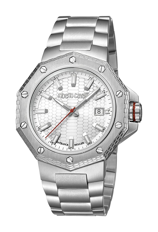 Roberto Cavalli rc-40メンズスイス製rv1g038 m0066 Swiss Quartz SilverステンレススチールWatch B07CK7X6R6