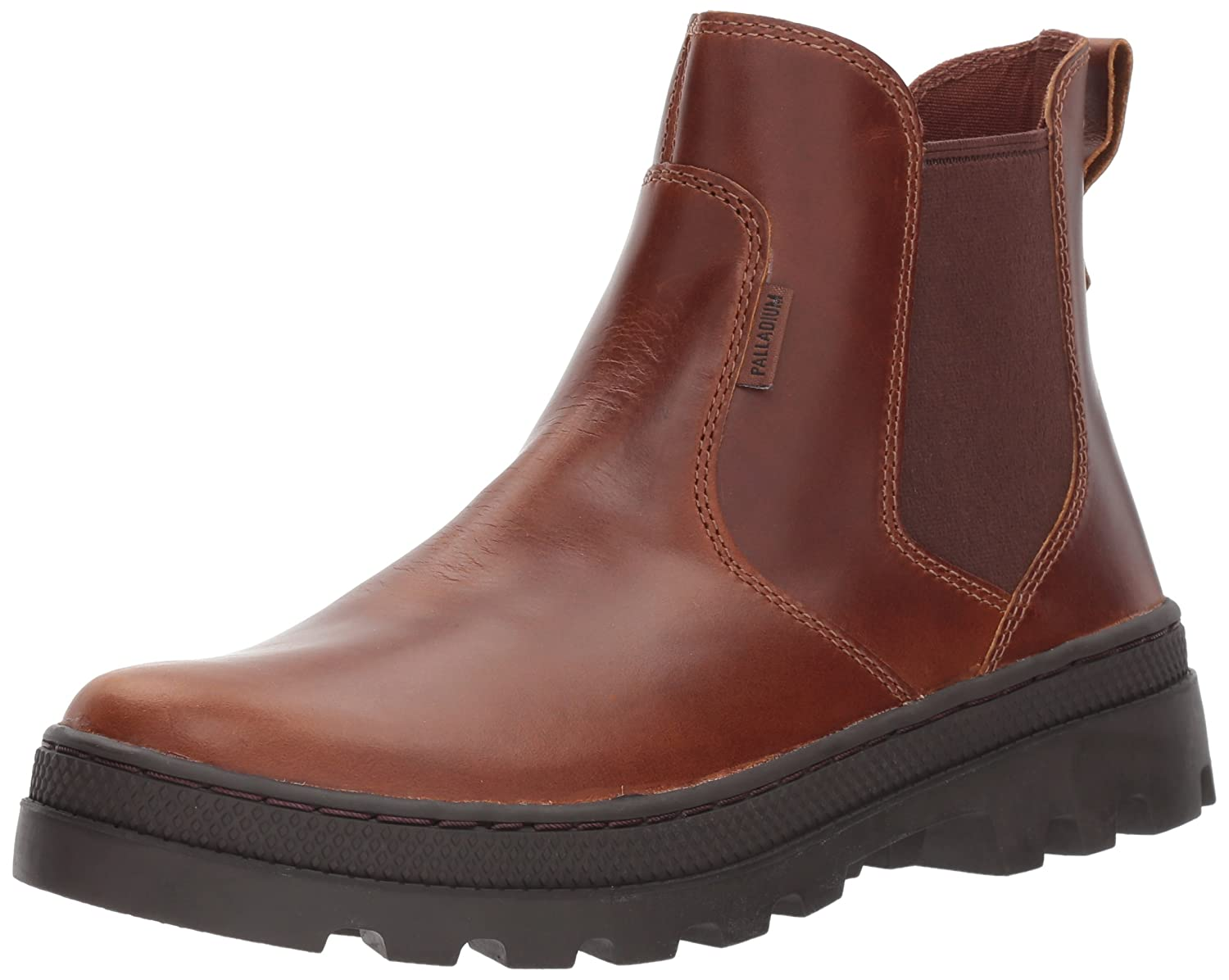 Palladium Women's Pallabosse Chelsea L Chukka Boot B01N179PN7 6.5 B(M) US|Sunrise/Chocolate