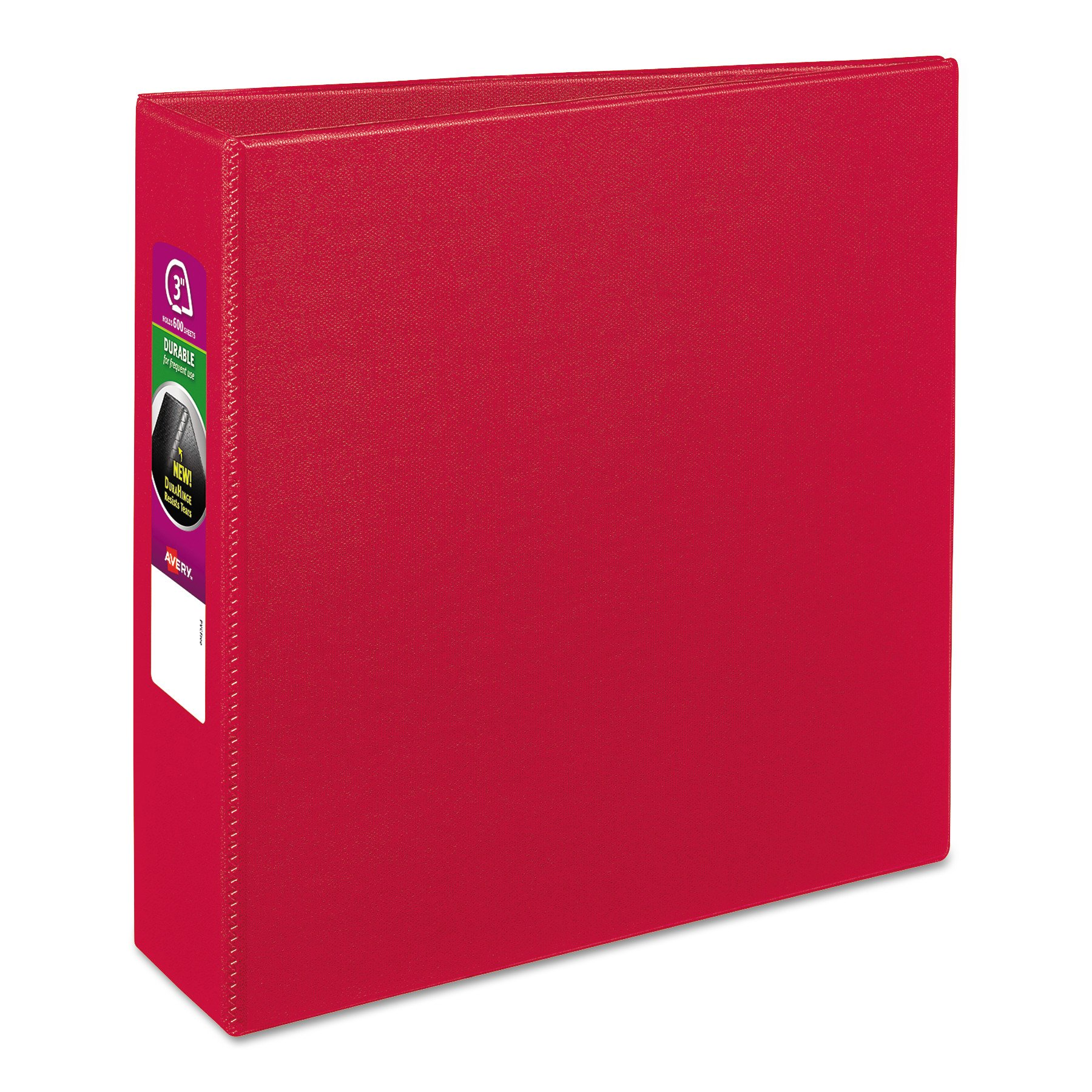 Avery 27204 Durable Binder with Slant Rings, 11 x 8 1/2, 3'', Red
