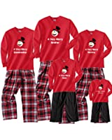 Footsteps Clothing Happy Snowman Family Matching Christmas Adult Pajamas & Kids Playwear