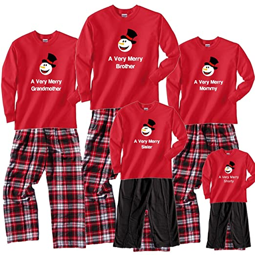 c472a266b4 Amazon.com  Footsteps Clothing Happy Snowman Family Matching ...