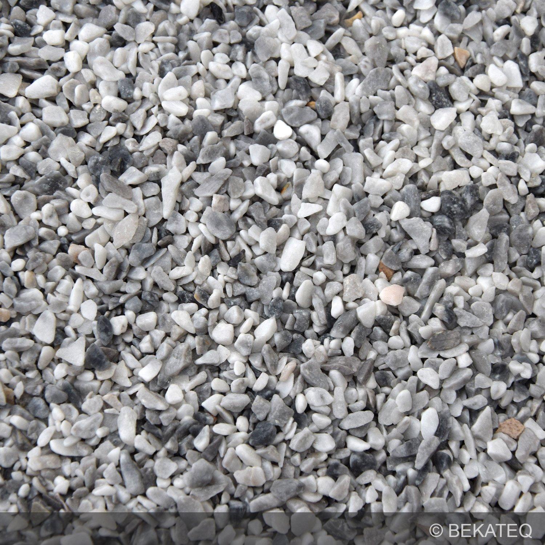 Amüsant Bodenbelag Außenbereich Frostsicher Foto Von Steinteppich Marmorkies Für 2qm | Bekateq Bk-600ep