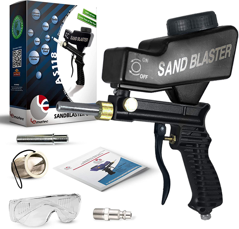 peinture Rust Remover Portable Sandblaster Gun abrasive Blaster Kit Sablage