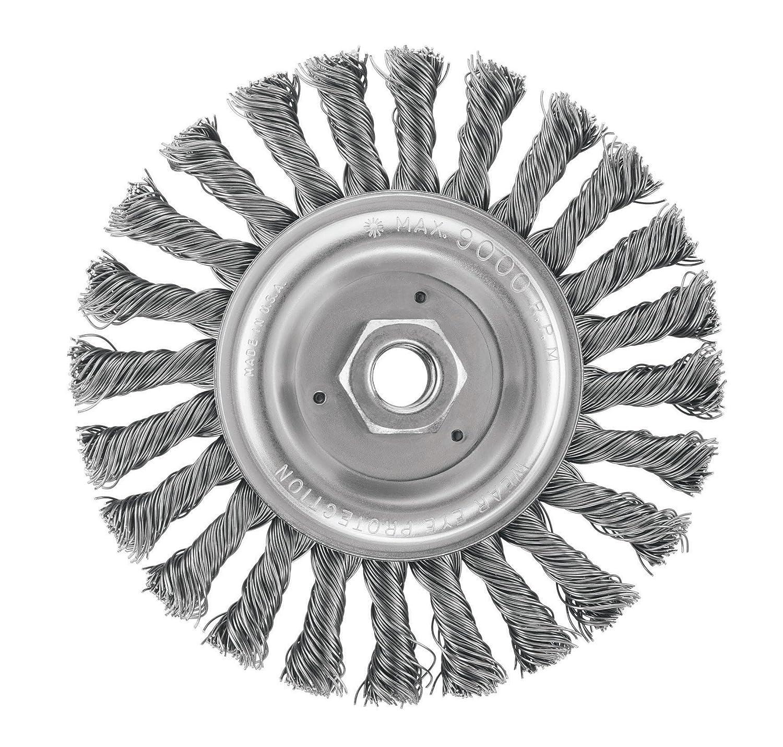 DEWALT DW4937 6-Inch Full Cable Twist Wire Wheel/Carbon Steel 5/8-Inch-11 Arbor .025-Inch