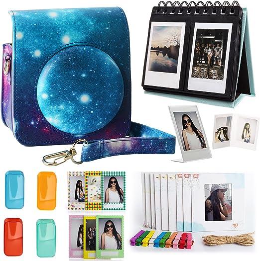 Woodmin Fujifilm Instax Mini 70 Cámara de bolsillo Accesorios Bundle Galaxy (Mini 70 casos/Escritorio Álbum/Decoración Marcos/Film pegatinas/Filtros/Foto bolsas): Amazon.es: Hogar