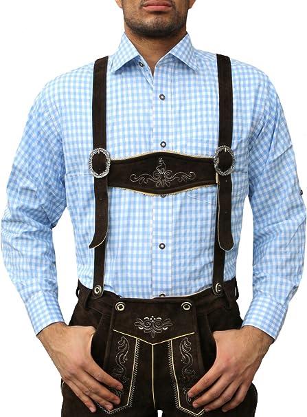 German Wear - Camisa - Cuadrados - Cuello Kent - Manga Larga ...