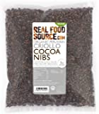 RealFoodSource Certified Organic Peruvian Raw Criollo Cacao/Cocoa Nibs (1KG - 1 Pack)