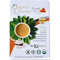 "Realorganics ""PURE & SIMPLE"" - Powdered, Coffee Creamer / 100% Certified Organic / rBST Free / GMO Free / Gluten Free / Chemical, Additive & Preservative Free… CARAMEL SWEET CREAM"