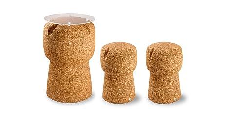 Greencorks combinazione tavolo h cm con sgabelli corkpouf h