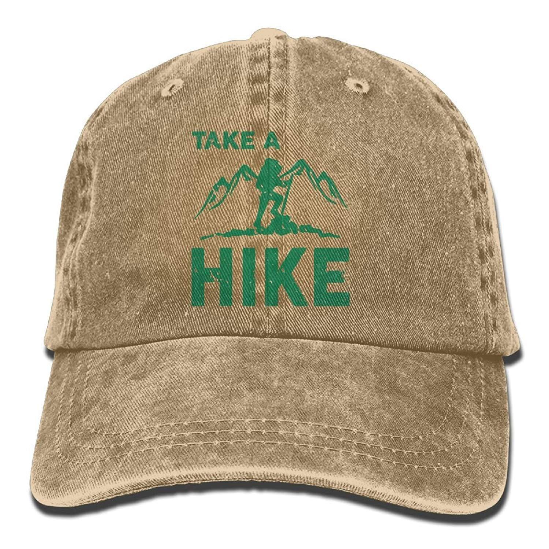 JTRVW Mens Womens Take A Hike Cotton Adjustable Peaked Baseball Dyed Cap Adult Custom Casual Baseball Cowboy Hats