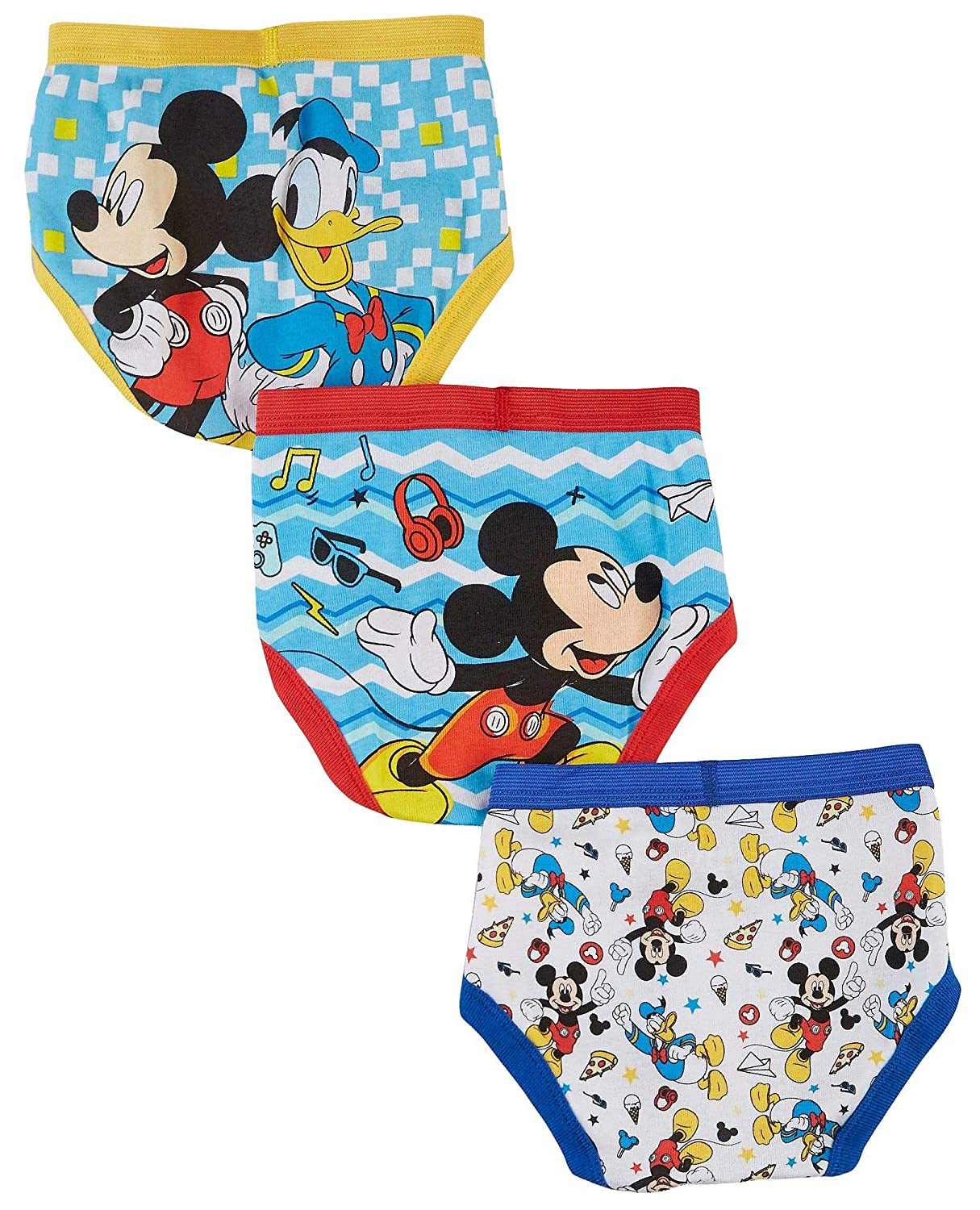 Disney Mickey Mouse Little Boys Toddler Club Friends 3-Pack Briefs