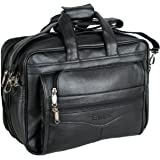 "Easies Synthetic 16"" Black Laptop Briefcase"