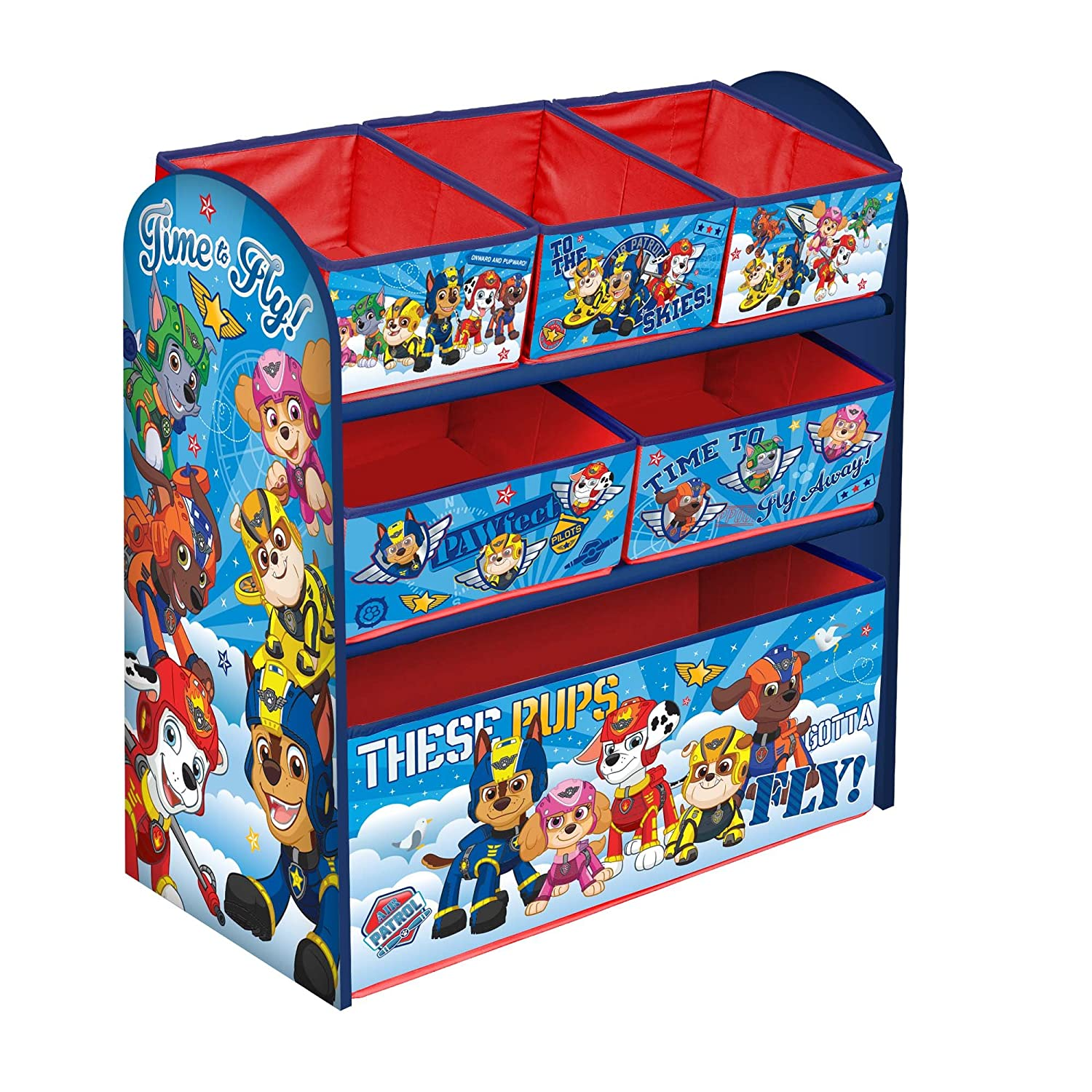 Disney Mickey Mouse Children's Toy Storage Unit Box Organiser Wooden Multi Tray - Kids Bedroom Playroom Furniture Steal A Deal