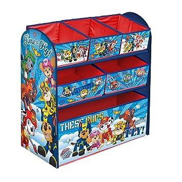Paw Patrol Childrenu0027s Toy Storage Unit Box Organiser Wooden Multi Tray - Kids Bedroom Playroom Furniture  sc 1 st  Amazon UK & Paw Patrol Childrenu0027s Toy Storage Unit Box Organiser Wooden Multi ...