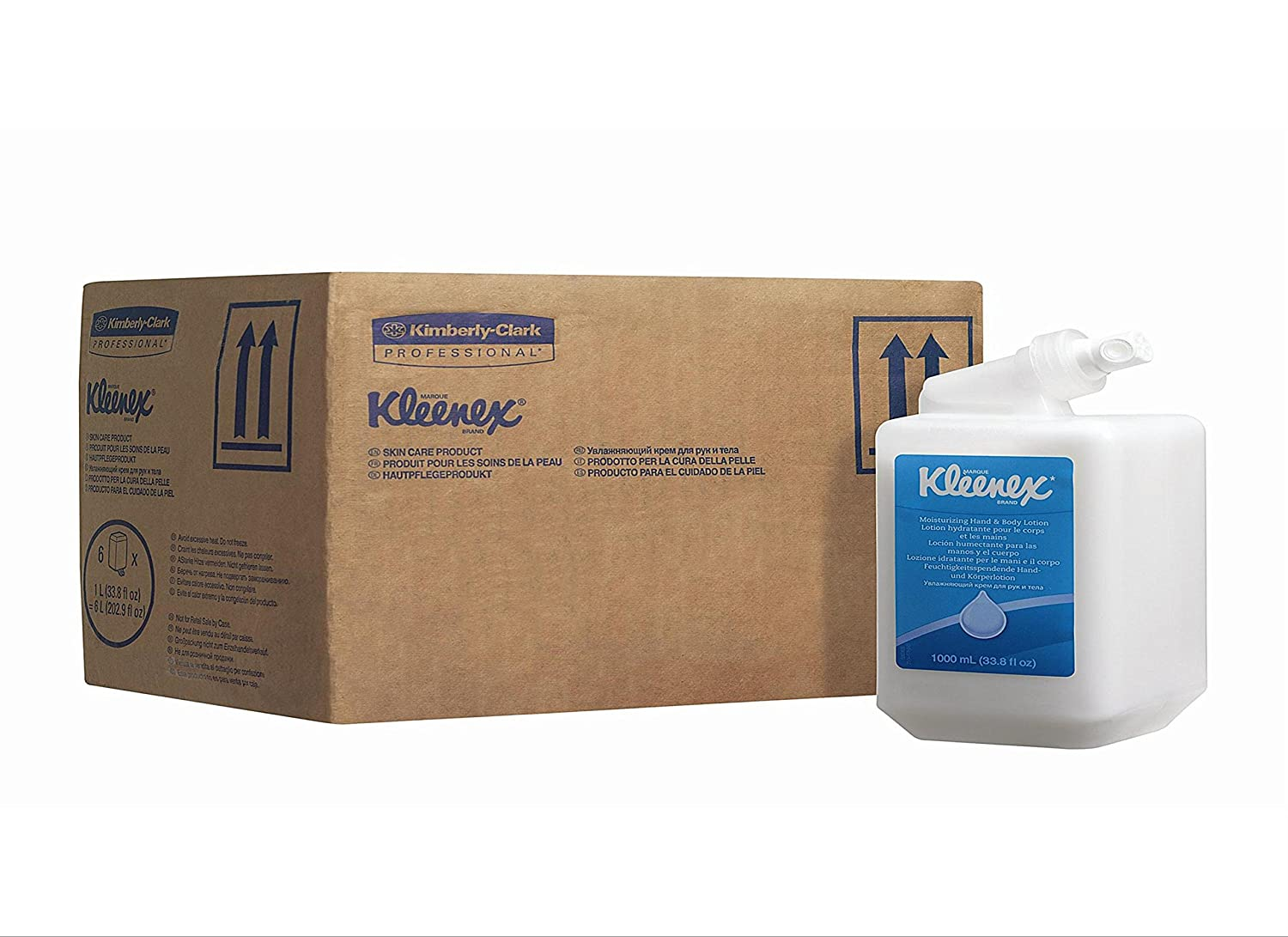 KLEENEX* Moisturising Hand and Body Lotion (product code 6373) 6 cassettes, 1 Ltr - White Kimberly-Clark Professional (EU) 35362