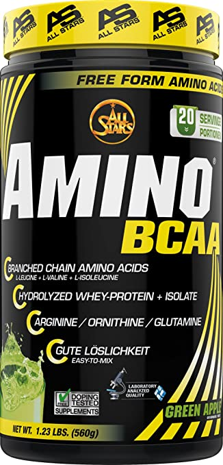 All Stars Hyper Amino BCAA Green Apple Anti-Catabolic Amino Acids 560g by ALL STARS