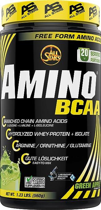 All Stars Hyper Amino BCAA Green Apple Anti-Catabolic Amino Acids 560g by ALL STARS