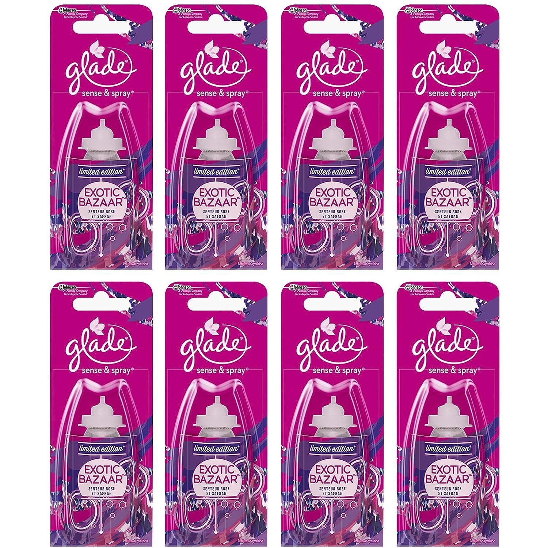 8 x Glade Sense & Spray Refills (Exotic Bazaar: Wildrose & Saffron)