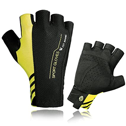 Black Multifunction Sports Cycling Mountaineering Bike Bicycle Half Finger Glove