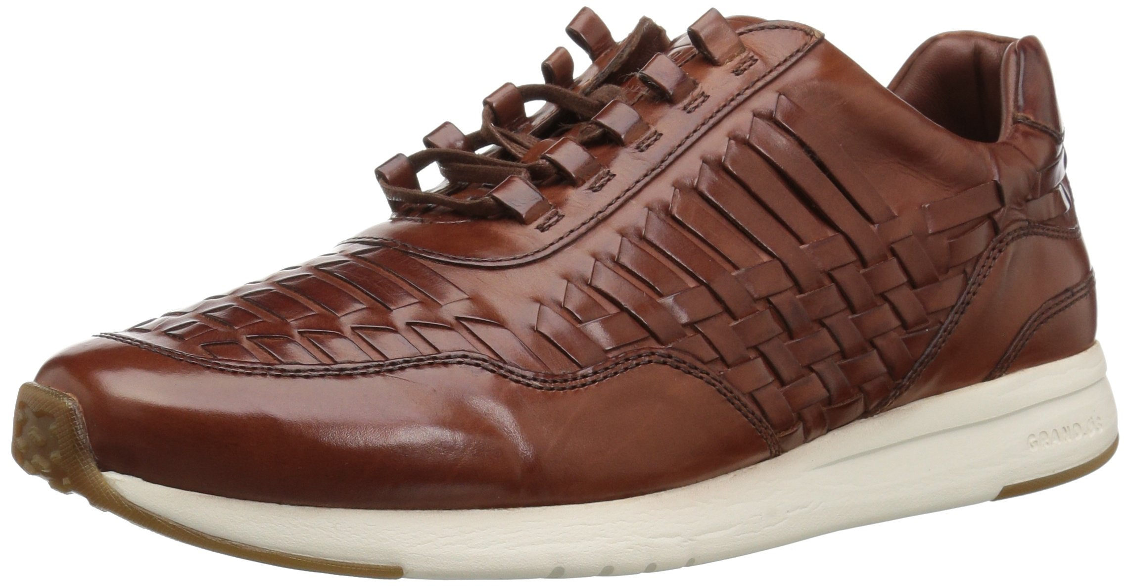 Cole Haan Men's Grandpro Runner Huarache Sneaker, Woodbury Woven Burnish, 12 Medium US
