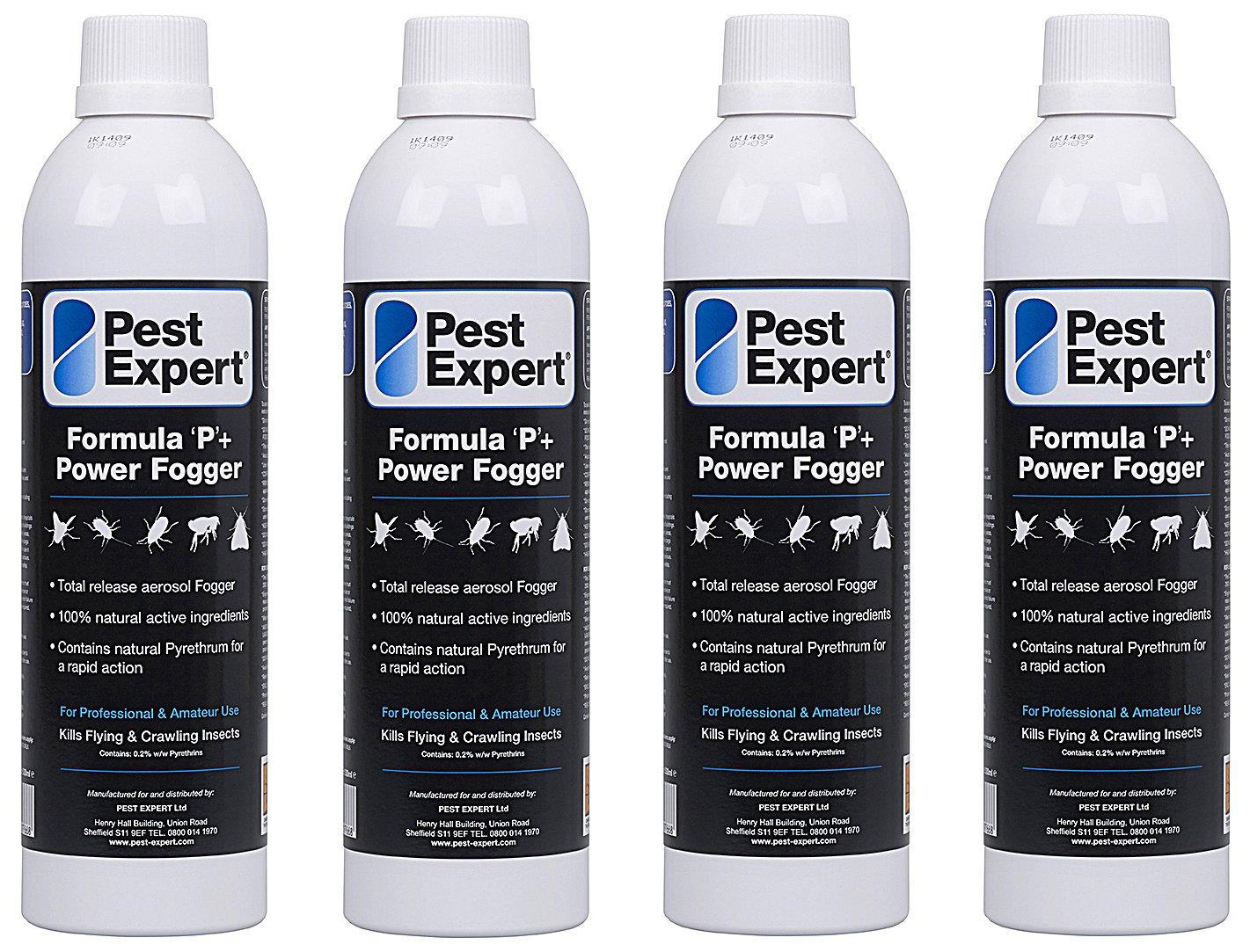 Pest Expert Formula P+ XL Power Nebler gegen fliegen, 4 x 530 ml