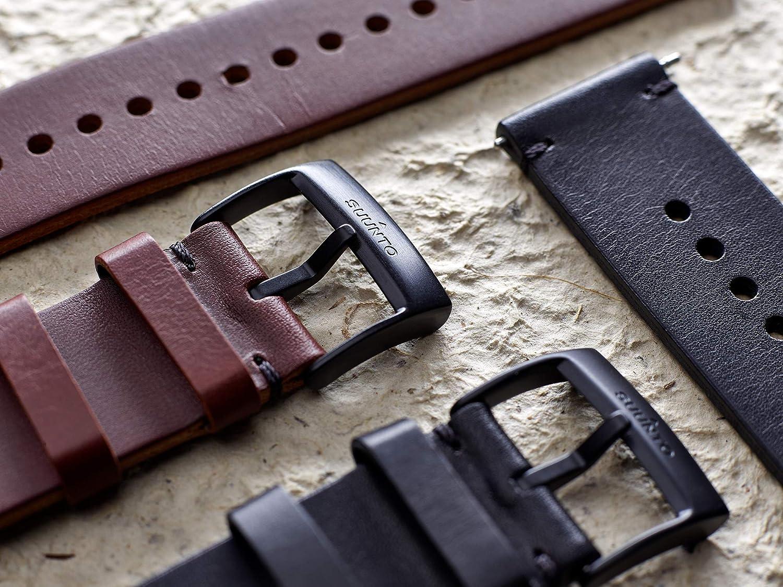 Suunto SS050232000 Correa de sustitución original para todos los relojes Suunto Spartan Sport WRH y Suunto 9, Cuero, largo: 22,7 cm, ancho: 24 mm, ...