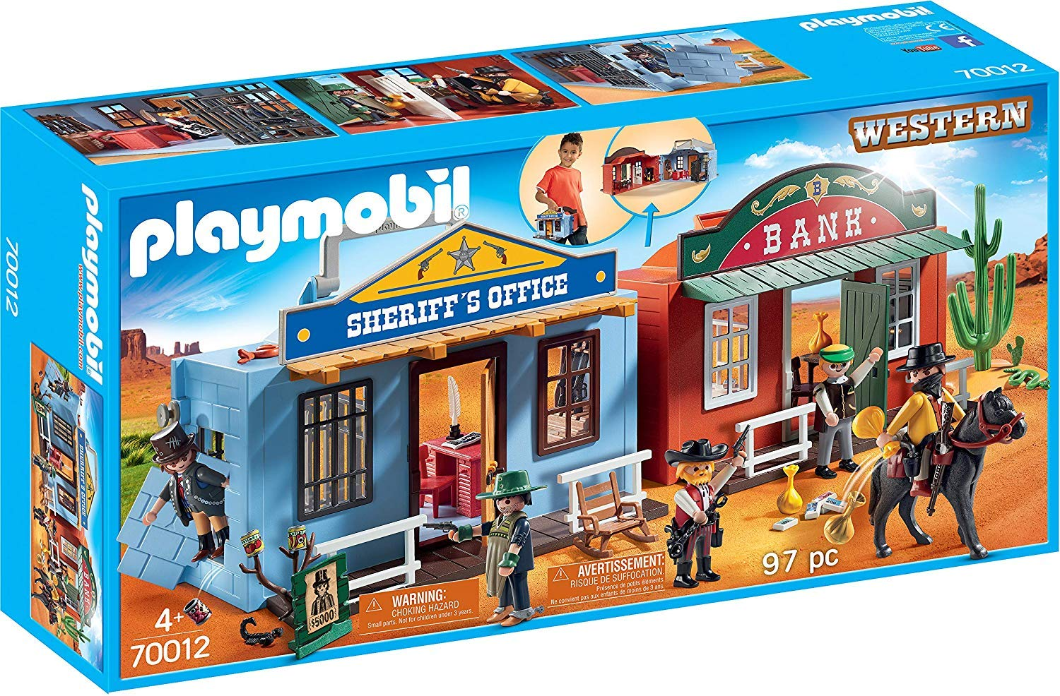 PLAYMOBIL/® Take Along Western City with Horse-Drawn Carriage
