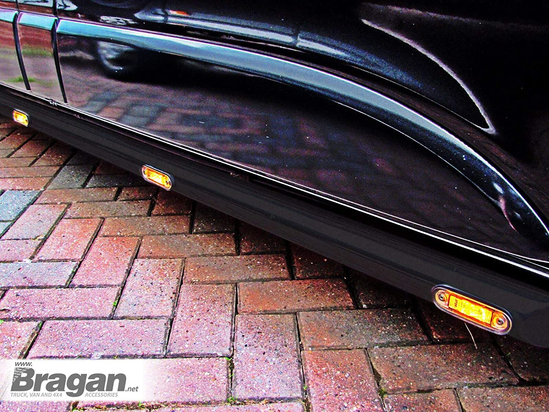 Fitting Kit Bragan BRA3351S2FLA-BLACK Van Side Bars Steps Tubes Matte Black Steel Amber LEDs