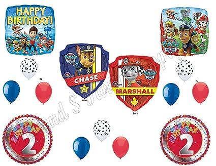 Amazon.com: Paw Patrol 2 nd cumpleaños Globos Decoración ...