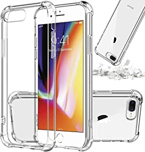 [ Storm Buy ] Shockproof Thin Clear Phone Case Compatible for [ iPhone 8 Plus, iPhone 7 Plus ] Case Transparent Clear TPU Bumper Protective Cover for [ iPhone 8 Plus / 7 Plus ]