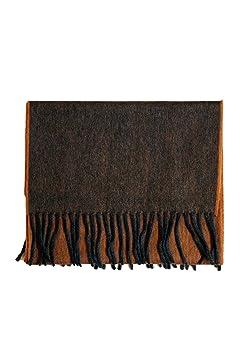 Wool Angora Scarf ALLAA 19751: Grey / Rust