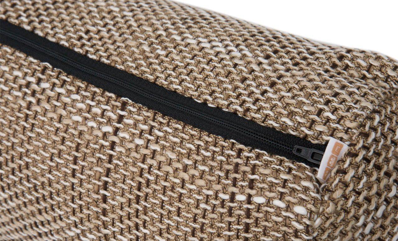 M/öbelb/är Schlummerrolle//Nackenrolle mit F/üllung aus Magma Webstoff 40 cm x 15 cm Black