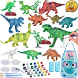 TERTOY Kids Dinosaur Painting Kit, Dinosaurs Toys Crafts and Arts Set Supplies Party for Boys Girls Age 4 5 6 7 Years…
