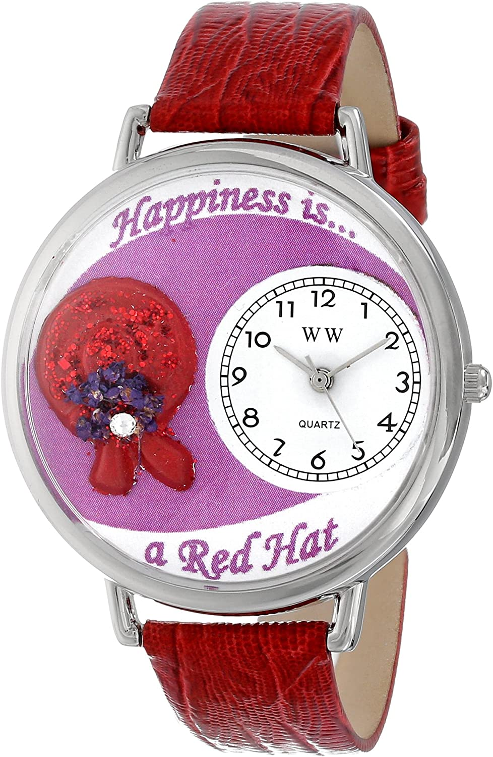 Whimsical Watches Unisex U0470007 Red Hat Red Leather Watch