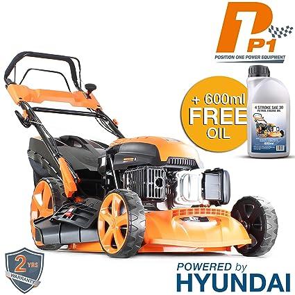 Hyundai Engine P1PE P5100SPE 173cc Petrol Lawnmowers Self Propelled  Electric Start 20 Inch 51 Centimetre Cutting Width, Steel Deck Lawn Mower,