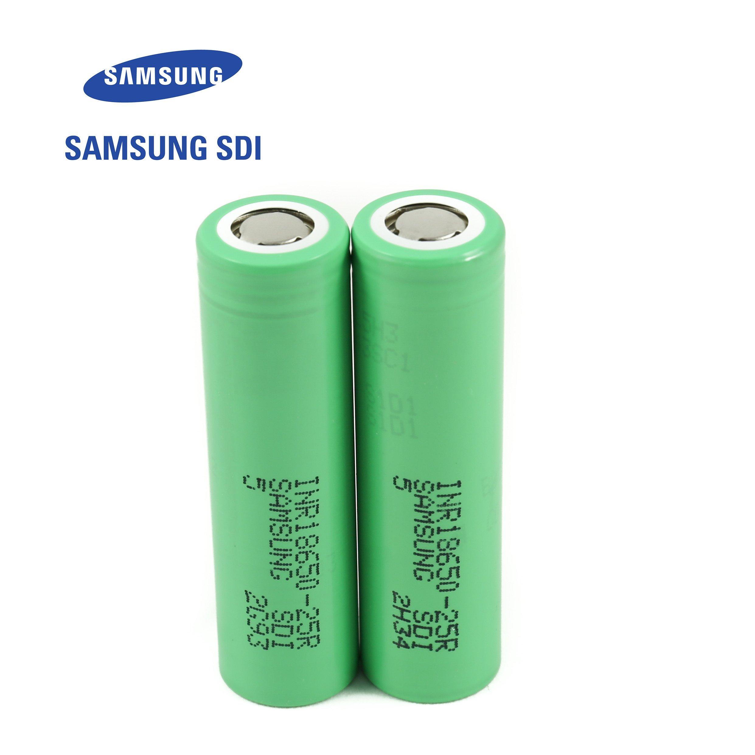 2pcs Samsung INR18650-25R 18650 2500mAh 3.7v Li-ion 20A discharge Authentic Grade-A Guarantee