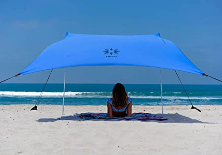 Neso Tents Beach Tent with Sand Anchor, Portable Canopy Sunshade – 7 x 7 – Patented Reinforced Corners