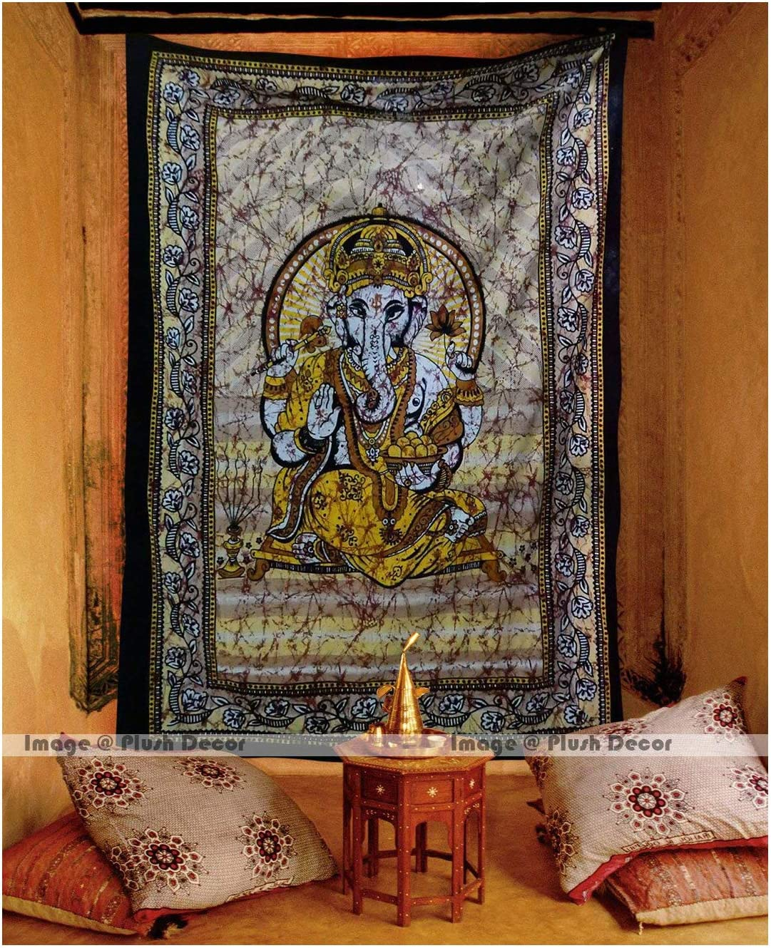 PD Plush Decor Large Ganesha Tapestries Lord Ganesh Bohemian Tapestry Hippy Hippie Indian Traditional Wall Hanging College Dorm