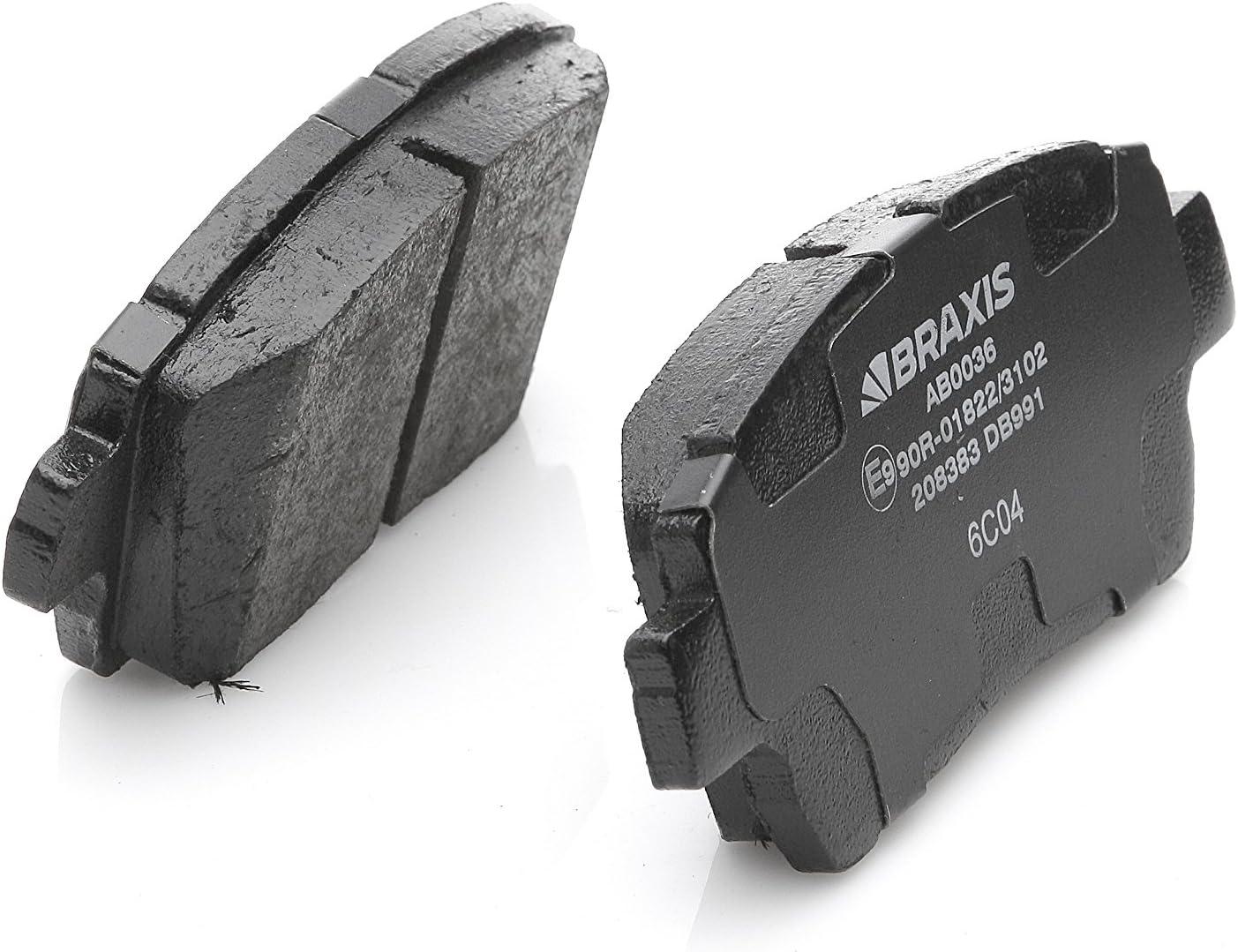 Set of 4 Braxis AB0036/Front Brake Pad Set
