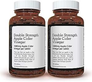 Double Strength Apple Cider Vinegar 1000mg x 360 Tablets (2 Bottles of 180 Tablets - 1 Years Supply) SKU: AV3x2