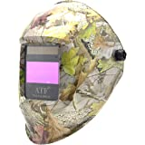 ATF Auto Darkening Solar Power Welding Helmet Forest Camo Leaf Mask with 1pc Extra Cover Lens Top Optical Class 1/1/1/1…