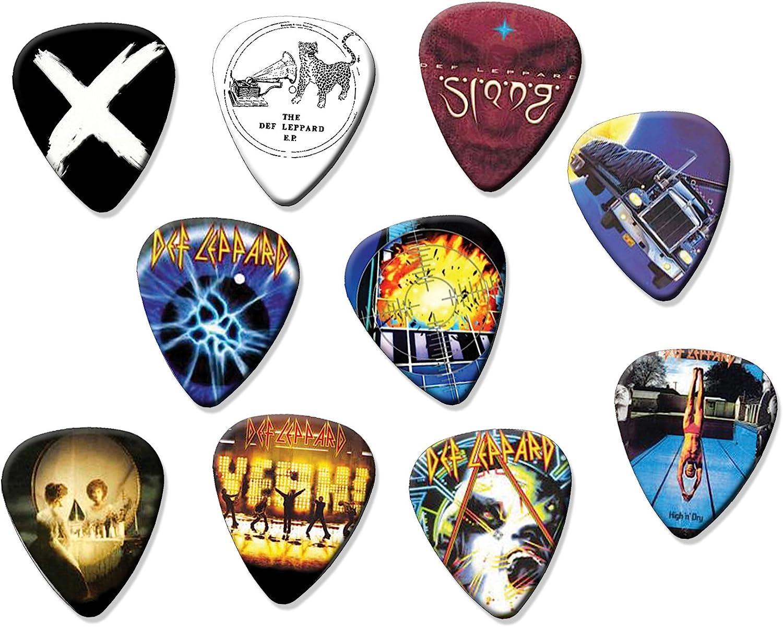 Def Leppard Code A5 Set of 10 Electric Acoustic Guitar Plectrums