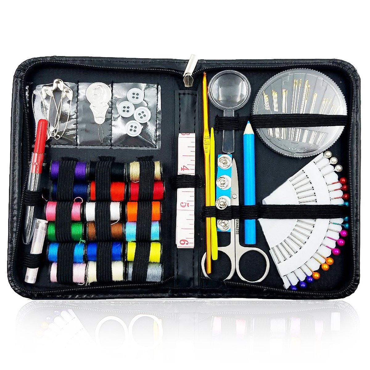 Sewing Kit Over 130 Premium Sewing Supplies for Travel Home Beginners Adults Kids Girls Emergency with Multifunctional Essentials Sewing Accessories ( pencil color may change ) 4337015766